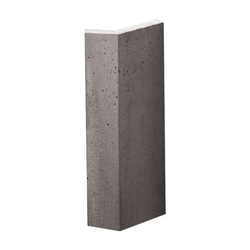 BRULAheat Kaminofen Bauplatte Eckelement 45° 40 x 500 mm