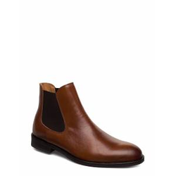 Selected Homme Slhlouis Leather Chelsea Boot B Noos Shoes Chelsea Boots Braun SELECTED HOMME Braun 43,45,42,44,46,40,41