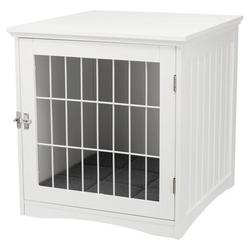 Hundebox für Zuhause, S: 48 × 51 × 51 cm, weiß