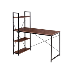 Woltu Schreibtisch, Moderner Schreibtisch mit integriertem Bücherregal