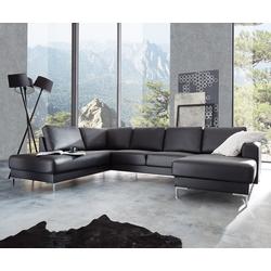 DELIFE Designer-Wohnlandschaft Silas 300x200 Schwarz Ottomane Links, Wohnlandschaften, Designer Sofa