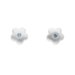 Adelia´s Paar Ohrhänger 925 Silber Ohrringe / Ohrstecker Blüte mit synthetischer Spinell