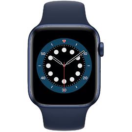 Apple Watch Series 6 GPS 44 mm Aluminiumgehäuse blau, Sportarmband dunkelmarine