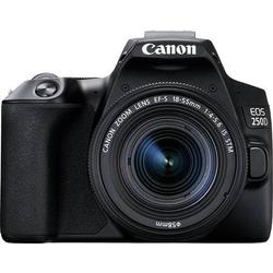 Canon EOS 250 D Digitale Spiegelreflexkamera EF-S 18-55mm IS 25.80 Megapixel Schwarz 4K-Video, Bluet