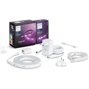 Philips Hue White & Col. Amb. Lightstrip Plus 2m Basis + Lightstrip Plus 1m Erweiterung, 16 Mio. Farben, steuerbar via App, kompatibel mit Amazon Alexa (Echo, Echo Dot)