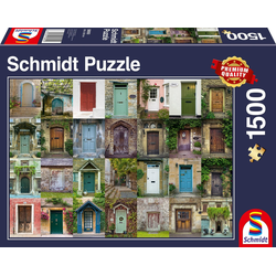 Schmidt Spiele Puzzle Türen, 1500 Puzzleteile