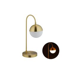 relaxdays Tischleuchte Tischlampe Kugel in Gold