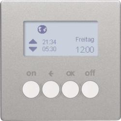 Berker Funk-Zeitschaltuhr KNX alu/lack 85745224