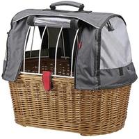 KLICKfix Fahrradkorb Weidenkorb Doggy Basket
