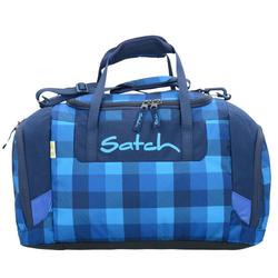 Satch Duffle Bag Sporttasche 44 cm karo blau skytwist