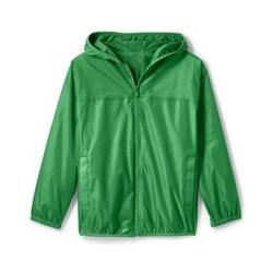 Wasserdichte Regenjacke mit Packfach - 122/128 - Grün