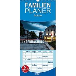 Unterhaching - Familienplaner hoch (Wandkalender 2021 , 21 cm x 45 cm, hoch)