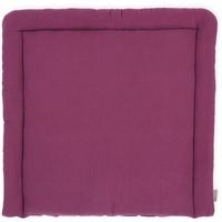 KraftKids Wickelauflage Musselin purpur, Wickelunterlage 78x78 cm (BxT), Wickelkissen