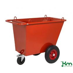 Kongamek Abfallwagen 400 l mit unplattbaren Lufträdern KM400PF