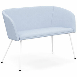 NAUDU 2-Sitzer Sofa mit 4-Fuß-Metallgestell, vollgepolstert