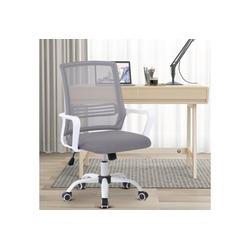 Merax Drehstuhl, Mesh Netz Stuhl Schreibtischstuhl Bürostuhl ergonomisch, mit Wippfunktion grau