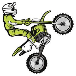 Wandtattoo Motocross Fahrer im Sprung Wandtattoos mehrfarbig Gr. 40 x 40