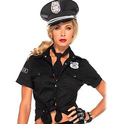Leg Avenue Sexy Polizeihemd und Krawatte, 2 Teile