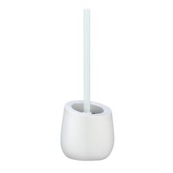 WENKO Badi WC-Garnitur, Toilettenbürstenhalter aus Keramik für Bad oder Gäste-WC, Farbe: weiß
