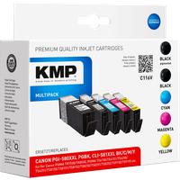 KMP C116V Multipack komp. mit Canon PGI-580XXLPGBK/CLI-581XXLBK/C/M/Y bunt