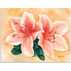 Artland Wandbild lachsfarbene Lilien, Blumen (1 Stück) 120 cm x 90 cm