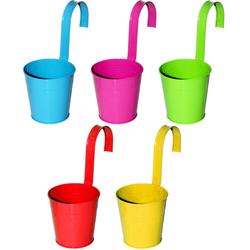 Balkonblumentopf - Blumentopf mit Haken - Ideal für Balkonbrüstung 13 cm