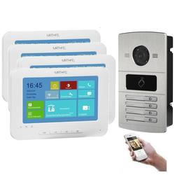 WLAN IP Türsprechanlage für 4-Familienhaus mit RFID und HD Kamera - ohne Kamera