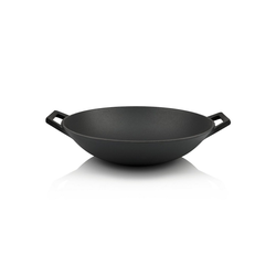BBQ-Toro Grillpfanne BBQ-Toro Gusseisen Wok Ø 35,5 cm, Bratpfanne + Grillpfanne