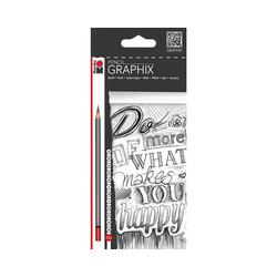 Marabu Bleistift Bleistifte 12er sort. Marabu Pencil, 12 Härten