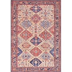 Teppich Afghan Kelim, ELLE Decor, rechteckig, Höhe 5 mm, Orient-Optik rot 200 cm x 290 cm x 5 mm