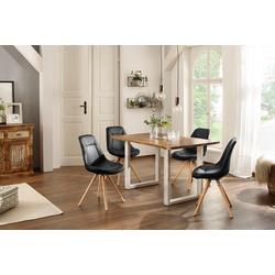 Home affaire Esstisch Tunis (Set), (5-tlg), bestehend aus dem Esstisch Melody und vier Stühlen Maitland