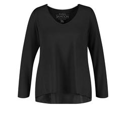 Blusenshirt in A-Linie Samoon Black
