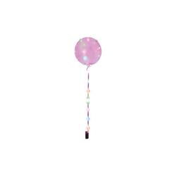 Happy People Luftballon Leuchtballon mit Lichterkette, transparent rosa