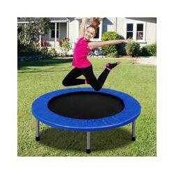 COSTWAY Trampoline de Fitness pour Enfants Ø97CM Pliable avec 32 Ressorts Charge Max 100KG Exercice