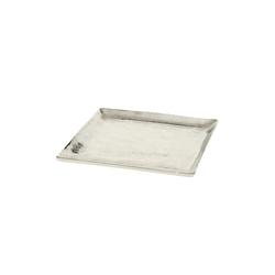 Boltze Deko-Teller Flaire in silber, 20 cm