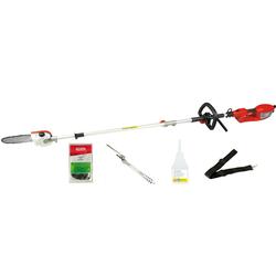 Grizzly Tools Elektro-Heckenschere EHS 900-2 L+HEK Set, bis 3,5 m Arbeitshöhe
