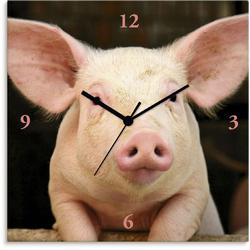 Wanduhr »Vorwitziges Schwein«, Wanduhren, 85579601-0 rosa rosa