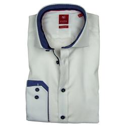 Pure Hemd PURE Hemd Slim Fit, weiß, Patch, 3584-736-900 langarm