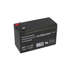 Multipower Multipower Blei-Akku MP7,2-12B Pb 12V / 7,2Ah VdS Bleiakkus (12V V)