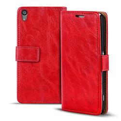 Retro Tasche für Sony Xperia Z1 Hülle Wallet Case Handyhülle Vintage Slim Cover