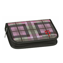Take it Easy Etui leer 2 Kl. PLAID lila/Schotten
