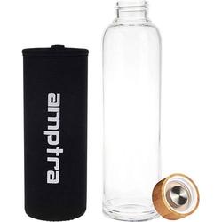 Trinkflasche Glas, Schwarz 550ml