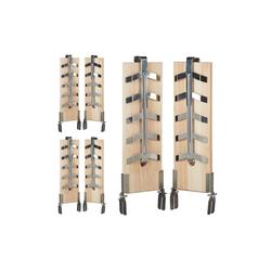relaxdays Grillguthalter 6 x Flammlachsbretter, Holz