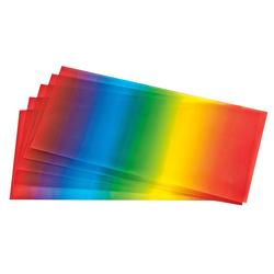 Folia Transparentpapier Regenbogen, 5 Bogen