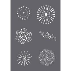 VBS Malschablone Schablone Dots, A5 grau