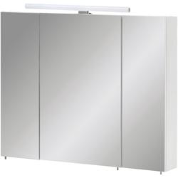 Schildmeyer Spiegelschrank Nikosia Inkl. LED Beleuchtung, LED-Aufbauleuchte: 50,0 cm weiß