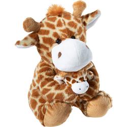 Heunec® Kuscheltier Giraffe mit Baby, 25 cm