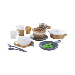 KidKraft® Spielgeschirr 27-teiliges Küchenset in edlem Metallic-Look