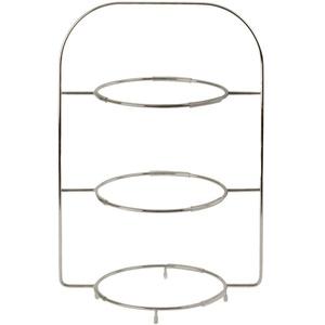 Villeroy und Boch - Anmut Etagere aus hochwertigem Edelstahl, 3-stöckige Servierplatte für Buffet oder Brunch, mit Speisetellern kombinierbar, 40 cm