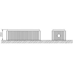 ABN Braun Bodenaufbausockel Gr.1 FB3 H=250mm SX015